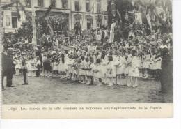 CPAS Liège Les écoles De La Ville Rendant Les Honneurs Aux Représentants De La France 1921. Legia - Lüttich