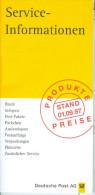 BRD Deutsche Post Produktpreise Stand 01.09.1997 = Postleistungs- Und -gebührenübersicht - Briefmarken