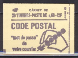 CARNET FERME  1815-C1  CONF.6  CODE POSTAL - Carnets