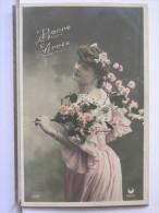 BONNE ANNEE - JEUNE FEMME - FLEURS - 1905 - Anno Nuovo