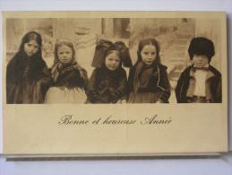 BONNE E HEUREUSE ANNEE - ENFANTS - ALSACE - 1907 - Nouvel An