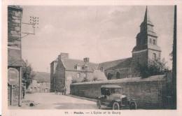 97. - Pleslin. - L´Eglise Et Le Bourg CPA Non écrite - France