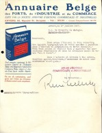 Faktuur Facture - Brief Lettre Pub. Reclame Annuaire Belge - Anvers Antwerpen 1928 - Sonstige