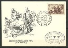 CARTE POSTALE -  AUX PTT VICTIMES DE LA GUERRE - WW2