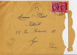 Lettre Affranchie 1947 ROSSILLON LYON Mr RIDET Ceres De Mazelin + Gandon - Francia