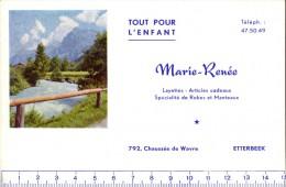 Vloeipapier Buvard - Pub Reclame - Marie - Renée - Tout Pour L'enfant - Etterbeek - Textile & Vestimentaire