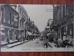 62 - BERCK-PLAGE - Perspective De La Rue Carnot. (Commerces: Librairie, Café...) - Berck