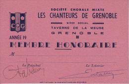 GRENOBLE. MUSIQUE. LYRIQUE.SOCIETE CHORALE LES CHANTEURS DE GRENOBLE - Vieux Papiers