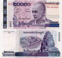 CAMBODIA   20,000 Riels  P-60a  2008  UNC    [20000] - Cambodge