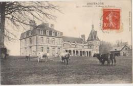 CPA 22 COHINIAC Château Du Rumain Vaches 1908 - France