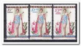 Colombia 1959, Postfris MNH, Flowers, Miss Universe - Colombia