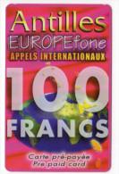 ANTILLES FRANCAISES Ref MV CARD ANTF EF 6  100F - Antilles (French)