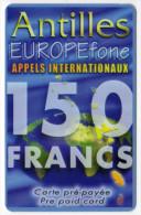 ANTILLES FRANCAISES Ref MV CARD ANTF EF 7  150F - Antilles (French)