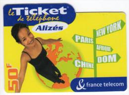 ANTILLES FRANCAISES TICKETS ALIZES Ref MV CARD ANTF TA3 ALIZES 3 Date 31/05/2003 - Antilles (Françaises)