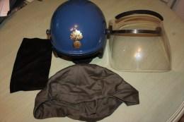 Casque Maintien De L´ordre Gendarmerie  - Modèle G1 + Masque - Police