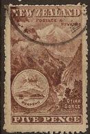 NZ 1898 5d Otira Gorge SG 323a U ZP155 - 1855-1907 Crown Colony