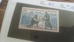 LOT 247939 TIMBRE DE ANDORRE NEUF** N�169 VALEUR 18,5 EUROS