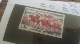 LOT 247940 TIMBRE DE ANDORRE NEUF** N�167 VALEUR 14 EUROS