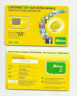 MADAGASCAR MADAGASKAR  Carte SIM NEUVE  /  MALAGASY NEW SIM Card TELMA MADAGASCAR - Madagaskar