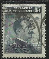 LIBIA 1912 - 1915 SOPRASTAMPATO D´ITALIA ITALY OVERPRINTED CENT. 15 USATO USED OBLITERE´ - Libya