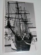 Bateau Amaré Au Port De Nice En 1958 Voilier 4 Mats Authentique à Identifier Carte Photo - Segelboote