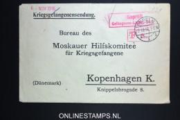 Germany Moskauer Hilfskomitee Kopenhagen Denmark Red Cross Cover 1916 - Briefe U. Dokumente