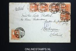 Germany Eilbrief Hamburg To Harlingen Holland,  Strip Of 4 - Briefe U. Dokumente