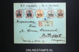 Germany Postgebiet Ober Ost, Registered Cover Rigo To Budapest