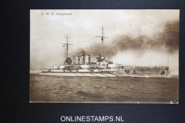 Germany SMS Helgoland Battleship  Postcard 1919