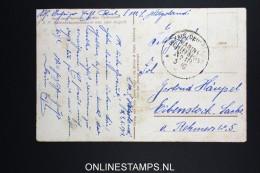 Germany Fieldpost  Office Cancel Nr 18 : SMS Helgoland Battleship  Postcard 1918
