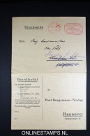 Germany  Double Card, Drucksache Machinestempel 50000 Mark