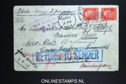 Germany  Return To Sender / Unclaimed Cover 1927 Neus To Detroit USA Nice Cancels.