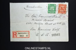 Germany  Registered Cover Charlottenburg To San Francisco USA  1926