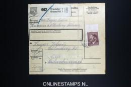 Germany  BÖHMEN U. MÄHREN  Paketkarte