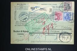 Germany    Paketkarte  Cassel  -> Zürich  1910