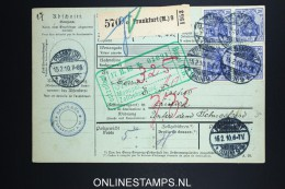 Germany    Paketkarte  Frankfurt  -> Zürich  1910 - Briefe U. Dokumente