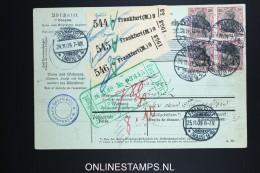 Germany    Paketkarte  Frankfurt  -> Zürich  1909