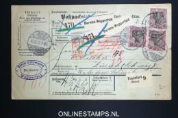 Germany    Paketkarte  Barmaen Wupperfeld   -> Zürich  1902