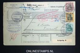 Germany    Paketkarte  Brandenburg   -> Zürich  1902 - Briefe U. Dokumente