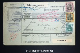 Germany    Paketkarte  Brandenburg   -> Zürich  1902
