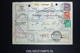 Germany  Paketkarte Hückewagen To Pratteln Schweiz 1926 - Deutschland