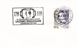 1999 Italia Scandiano RE Lazzaro Spallanzani Medicine Physiology Biology Medicina - Medicina