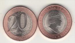 2x New Bimetal ANGOLA 20 KWANZAS  2014 New - Angola