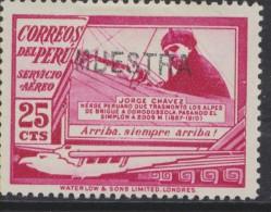 O) 1936 PERU, SPECIMEN JORGE CHAVEZ AVIATOR MINT - Peru