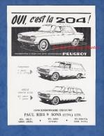 Publicité Ancienne - ADDIS ABABA ( Ethiopia Ethiopie ) - Automobile Peugeot 204 - Garage Paul RIES & SONS - Advertising