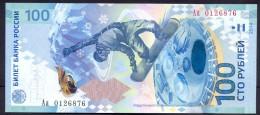 Russia 100 Rouble 2014 UNC    # P- 274c Sochi Olimpics Games Commemorative !!! Letters Aa !!! Hi Grade! - Russia