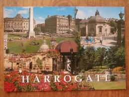 41720 POSTCARD: YORKSHIRE: HARROGATE: War Memorial / Royal Pump Room / Royal Baths / Valley Gardens. - Harrogate