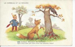 2600 - LE CORBEAU ET LE RENARD - HE ! BONJOUR, MONSIEUR DU CORBEAU !...  ( Déssin: JIM PATT ) - Altre Illustrazioni