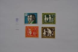 GERMANY, BRD,1959 FAIRY TALES GRIMM Stories Literature, Mi. 322/325 MNH ** - Unused Stamps