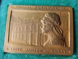 MEDAILLE HOPITAL AUXILIAIRE 117 LYCEE JANSON SAILLY PARIS GUERRE 1914 1918